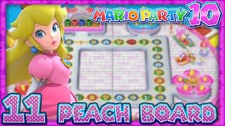 Mario Party 10: Part 11 - Peach Amiibo Board (4 Player)