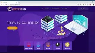 Cryptosun.ltd | + 100% IN 24 HOURS | HYIP NEW X2 PAYING