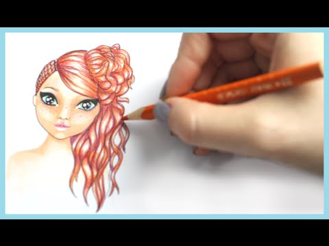 topmodel malbuch how to draw hair frisur malen copics foxy draws youtube. Black Bedroom Furniture Sets. Home Design Ideas