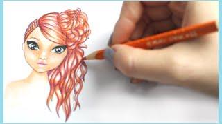 Topmodel Malbuch | How to draw Hair | Frisur malen | Copics || Foxy Draws