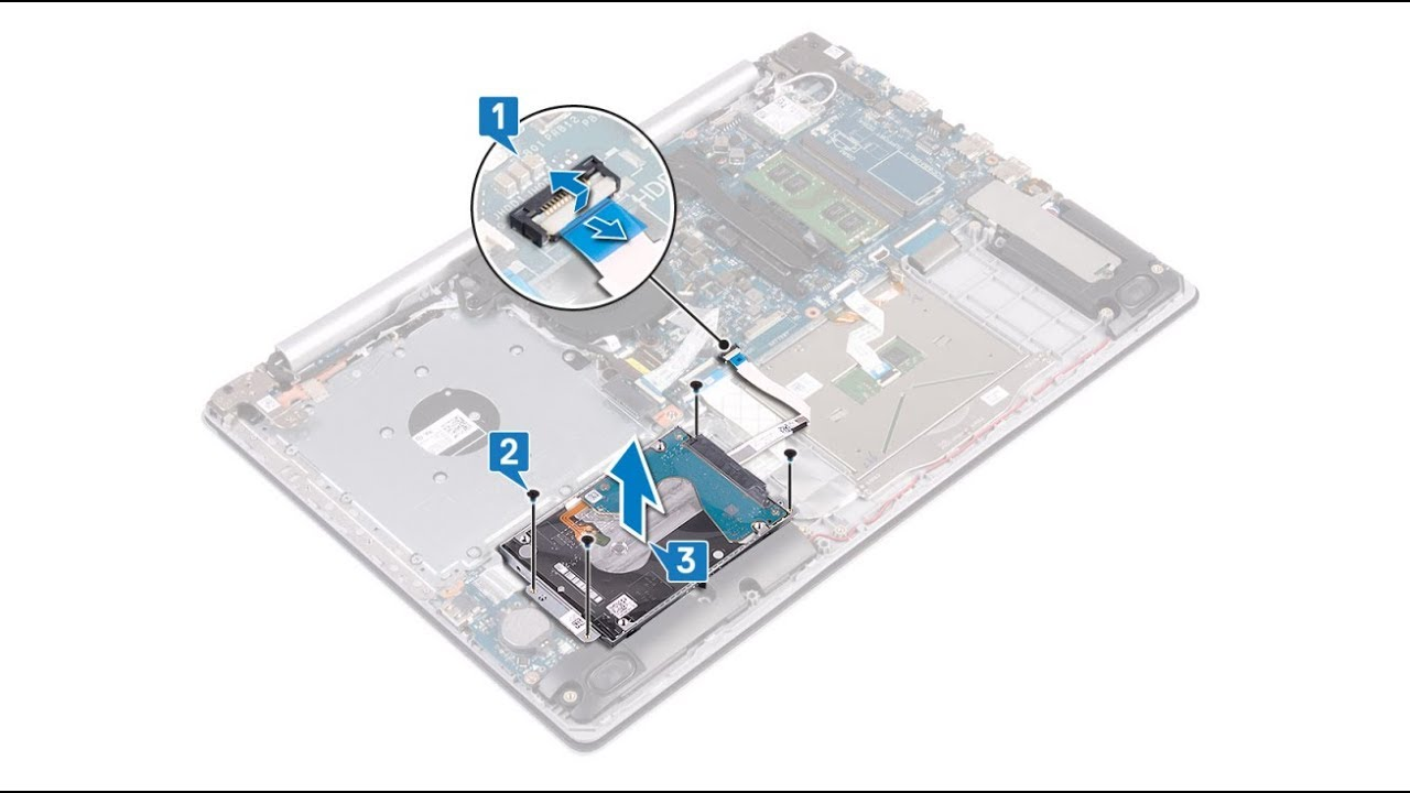 Dell Inspiron 5570 - Hard Drive replacement - Laptop repair