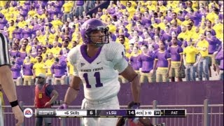 NCAA Football 13: Gameplay ft. TCU vs LSU (NCAA 13)