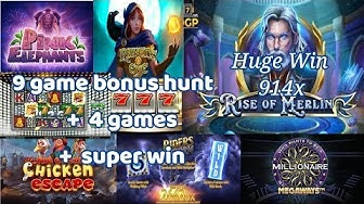 20p/30p Bonus Hunt, on 9 Games. + 4Game Bonus Hunt + Epic Rise Of Merlin 914x