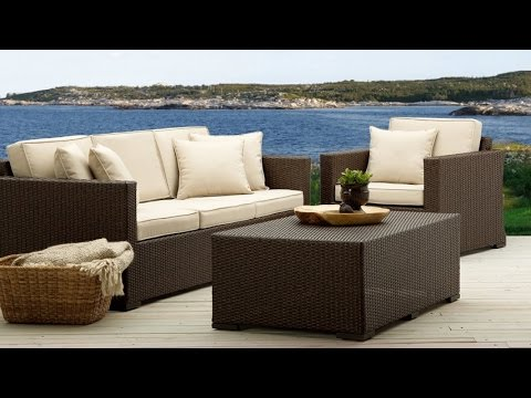 Strathwood Griffen All Weather Wicker 3 Seater Sofa Furniture For Outdoor  Sitting Area   YouTube
