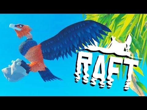 SCREECHER BIRD ATTACK on the GIANT ISLAND! - Raft Gameplay