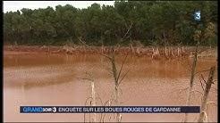 Boues rouges-Bauxaline Gardanne intervention CRIIRAD au Grand soir 3 du 11/12/14