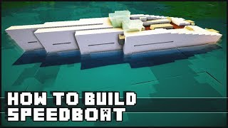 ► Minecraft : How to Make - Speedboat