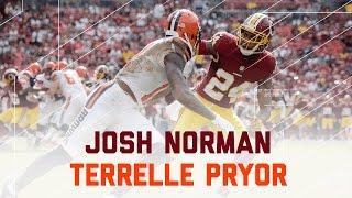 Josh Norman vs. Terrelle Pryor   Browns vs. Redskins   NFL Week 4 Player Highlights