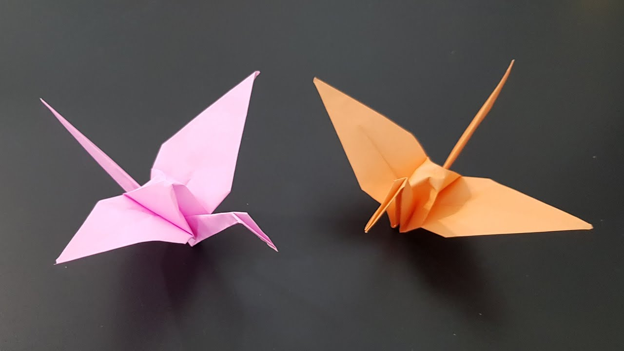 Easy Origami Crane Tutorial - Tsuru - Paper Kawaii - YouTube | 720x1280