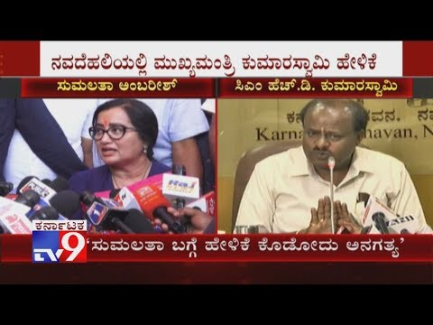 'Its Unnecessary For JDS Leaders to Comment On Sumalatha': CM HD Kumaraswamy at Delhi