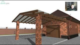 видео Проект гаража с баней - как сделать гараж с баней