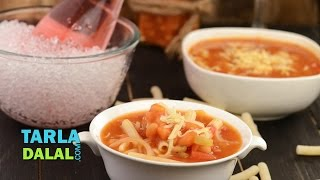 Bean And Pasta Soup By Tarla Dalal
