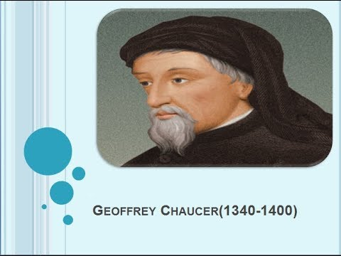 Life and Works of Geoffrey Chaucer (1340-1400)
