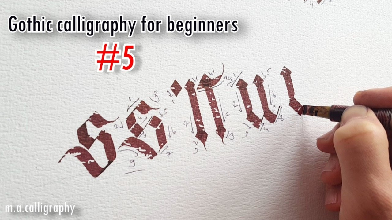 Gothic calligraphy for beginners s t u v youtube