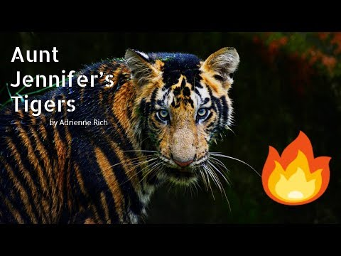 AUNT JENNIFER'S TIGERS by Adrienne Rich 🐯| CLASS 12 CBSE POEM | 🎈FULLY EXPLAINED (in Hindi)