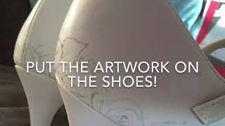 Painted wedding shoes! How it works.