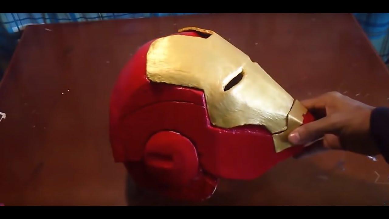 Capacete Homem De Ferro De Papelao Mark 4 Parte 1 Youtube