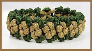 """Paracord Bracelet Tutorial: """"Boxed Trail"""" Bracelet Design Without Buckle"""