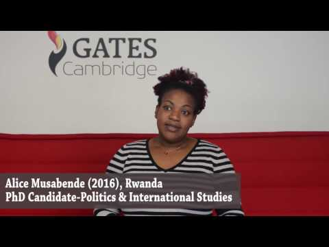 Alice Musabende: family, state-building and Gates Cambridge