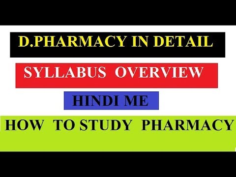D Pharm First Year Syllabus Overview With Detailed Of All Subject