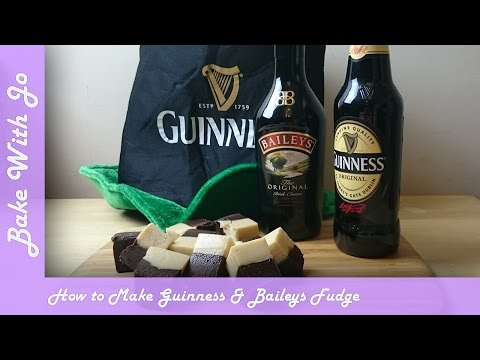 How to make Guinness & Baileys Fudge | Bake with Jo