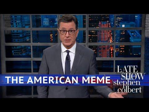 "Stephen Colbert vs. Examines Conservative ""Walk Away"" Memes"