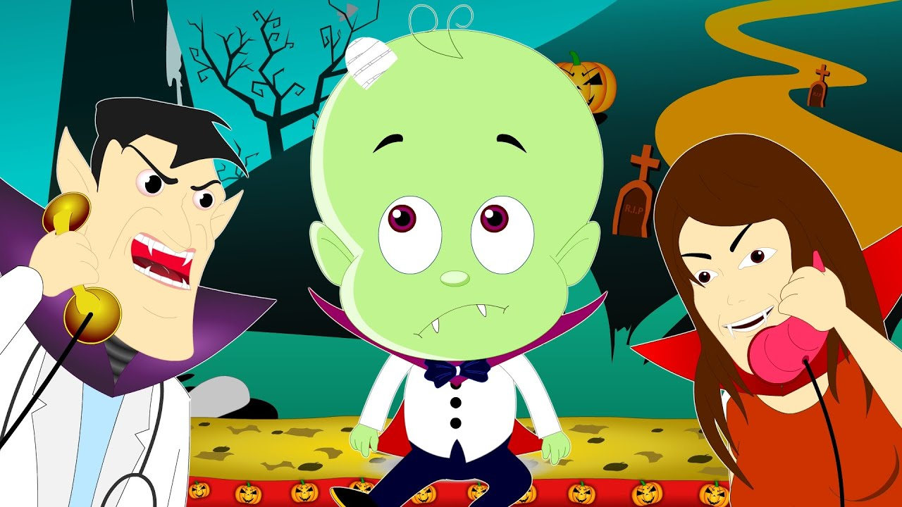 Five Little V&ire | Halloween Song Nursery Rhymes | Little Kids Tv - YouTube & Five Little Vampire | Halloween Song Nursery Rhymes | Little Kids Tv ...