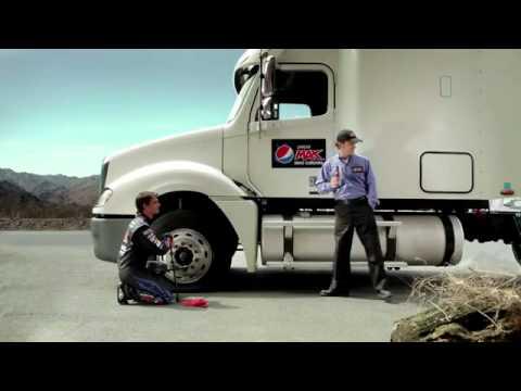 Jeff Gordon Drives The Pepsi Max Truck To Daytona