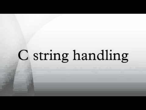 C string handling