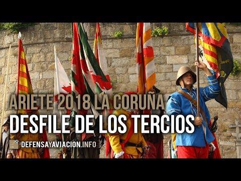 Desfile de los Tercios y homenaje a María Pita en La Coruña