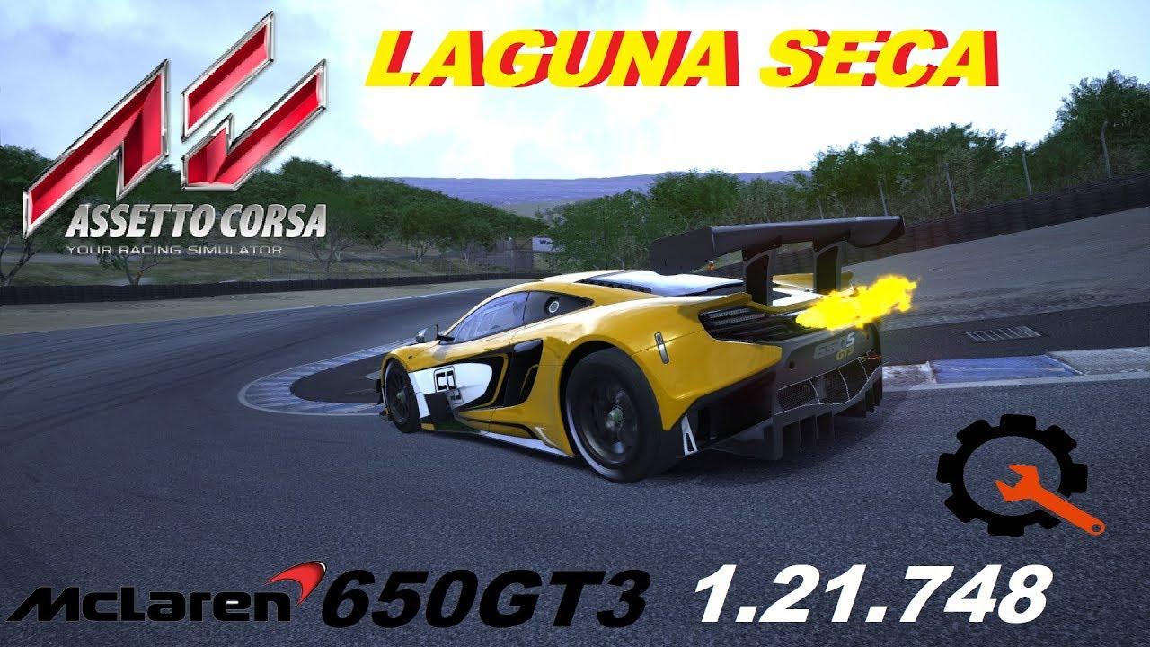 assetto corsa mclaren 650s gt3 laguna seca 1.21.748 setup tutorial