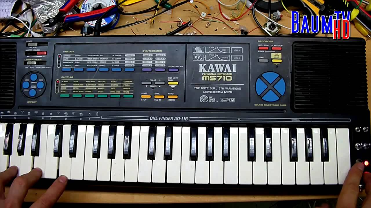Kawai Ms710 Glitch Synth With Noise Drums Circuit Bent By Baum Basic Bending Tutorial Youtube