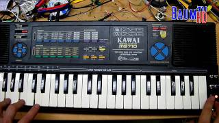Kawai MS710 Glitch Synth with noise drums (Circuit bent by BAUM)