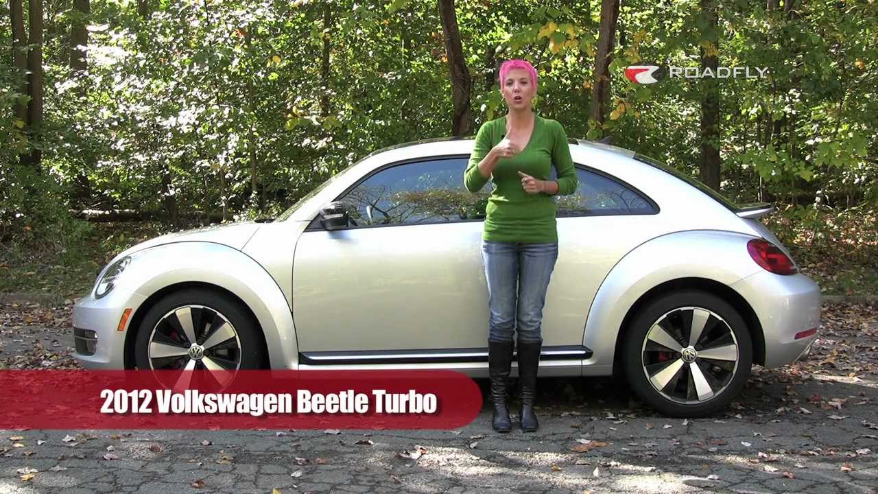 Vw Beetle Test >> VW Beetle Turbo 2012 Test Drive & Car Review by RoadflyTV with Emme Hall - YouTube