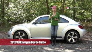 VW Beetle Turbo 2012 Test Drive & Car Review by RoadflyTV with Emme Hall