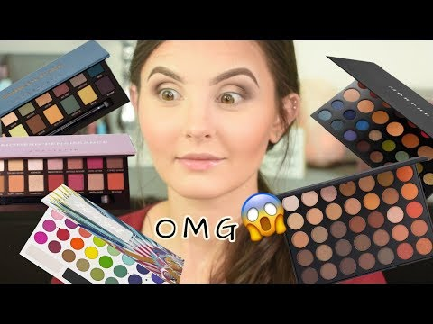 Numbers Pick My Makeup..USING ALL MY PALETTES! | Random Numbers Pick My Makeup Challenge thumbnail