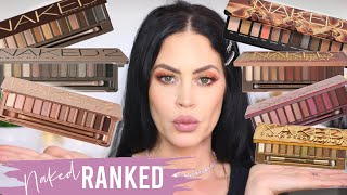 RANKING MY URBAN DECAY NAKED PALETTES