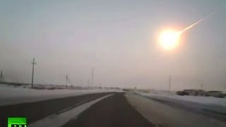 Meteor dash cam: Amazing video of Russian meteorite ripping through skies(Video licensed from: Roman Belchenko A meteorite explosion was seen from different regions of Russia and even from abroad - as far away as Kazakstan, ..., 2013-02-15T13:23:08.000Z)