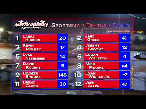 Sportsman Feature @ North Georgia Speedway March 2, 2019