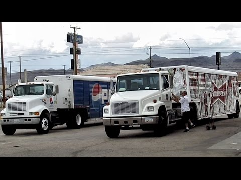 PEPSI AND BUDWEISER TRUCKS