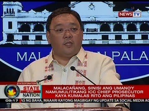 Malacañang, sinisi ang umano'y namumulitikang ICC chief prosecutor kaya kumalas rito ang Pilipinas