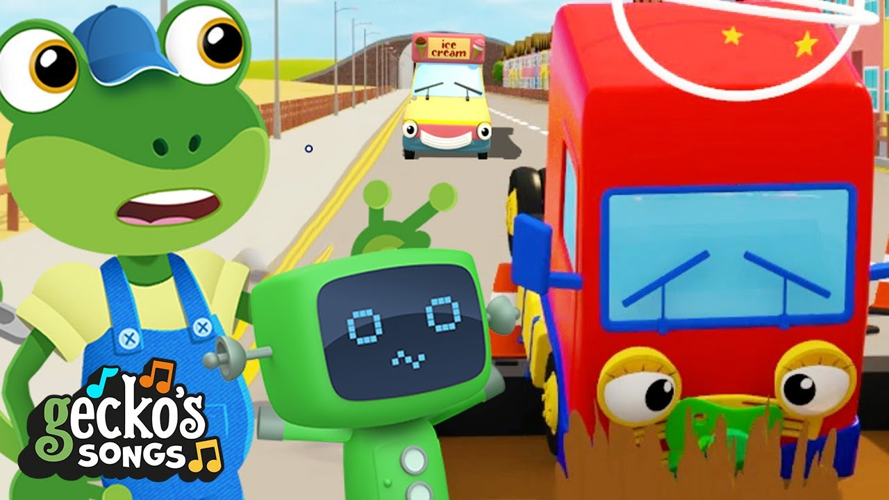 Baby Truck Keeps Falling Down | Nursery Rhymes & Kids Songs | Gecko's Garage | Funny Trucks For Kids