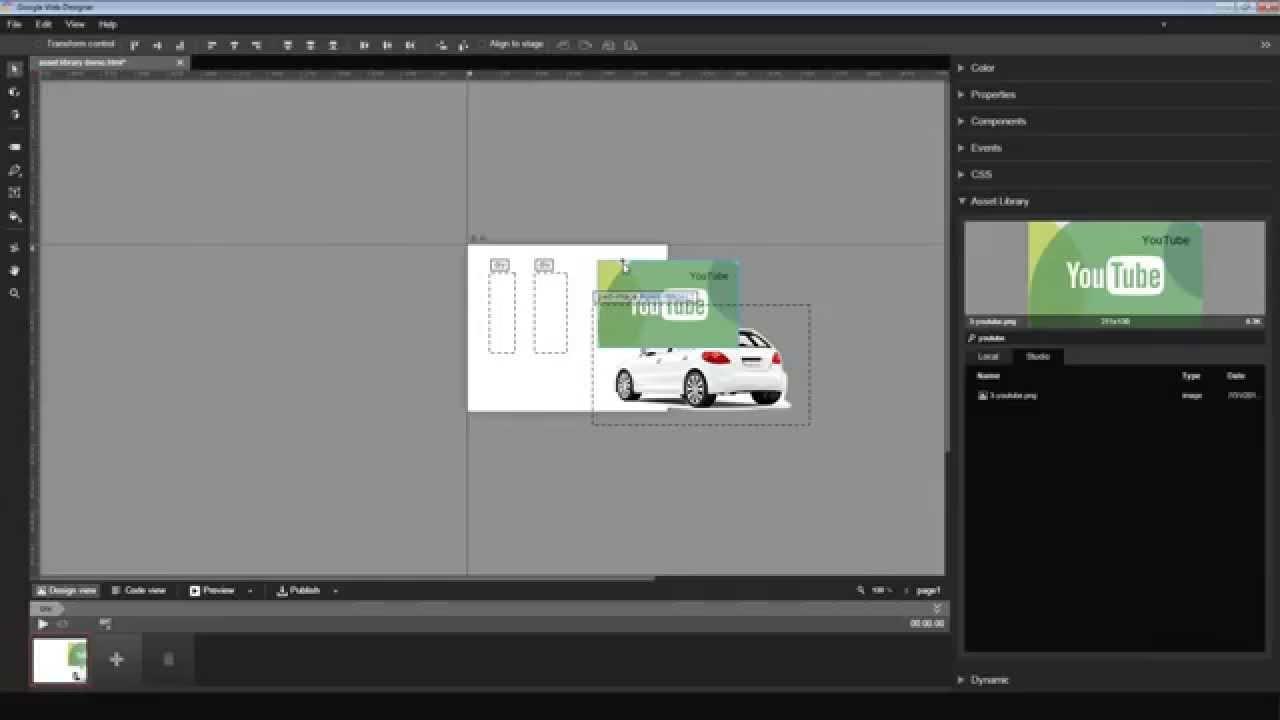 Google Web Designer Asset Library Integration - YouTube