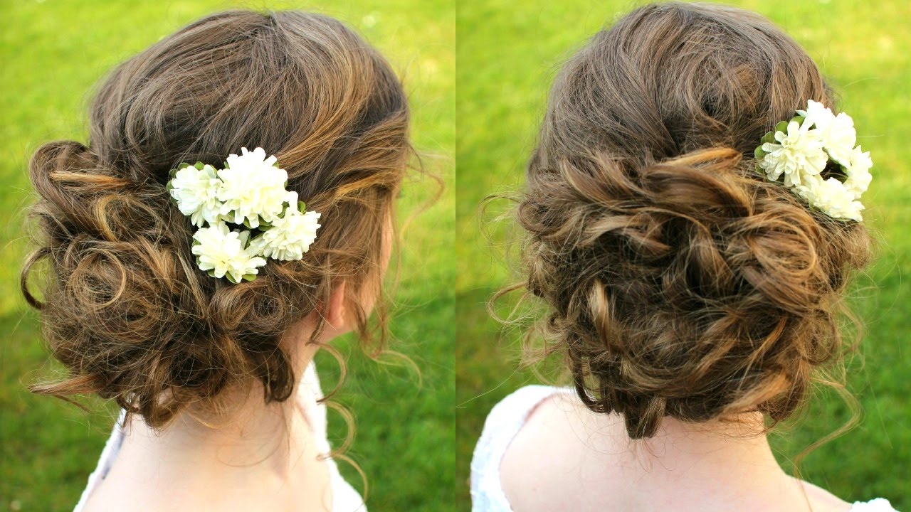 how to : curly / boho updo hair tutorial   braidsandstyles12