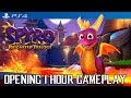SPYRO REIGNITED - First 60 Minutes Gameplay (PS4 Pro) No Commentary Gameplay @ 1440p ✔