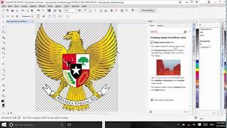 Cara menghapus background putih pada gambar dicorel draw x7