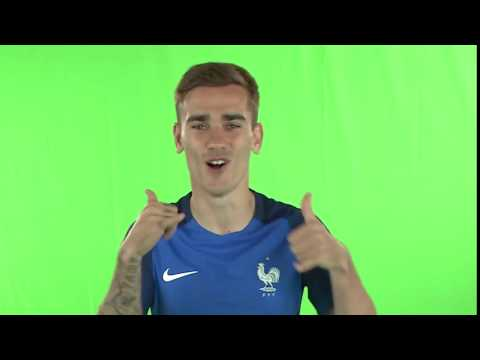 Antoine Griezmann goal celebration in Euro 2016 France