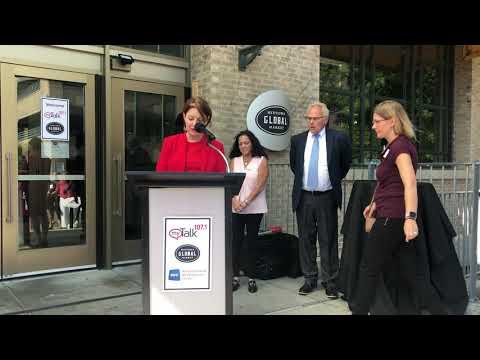 Senator Amy Klobuchar presented myTalk 107.1 with the NABEF Service To America Award!