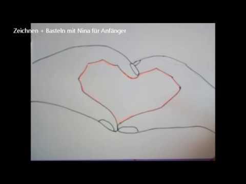 Diy Hände Machen Ein Herz Valentinskarte Schnell Und Einfach