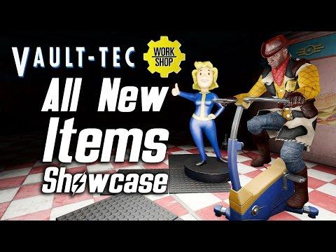Fallout 4 Vault-Tec DLC - All New Items Showcase |